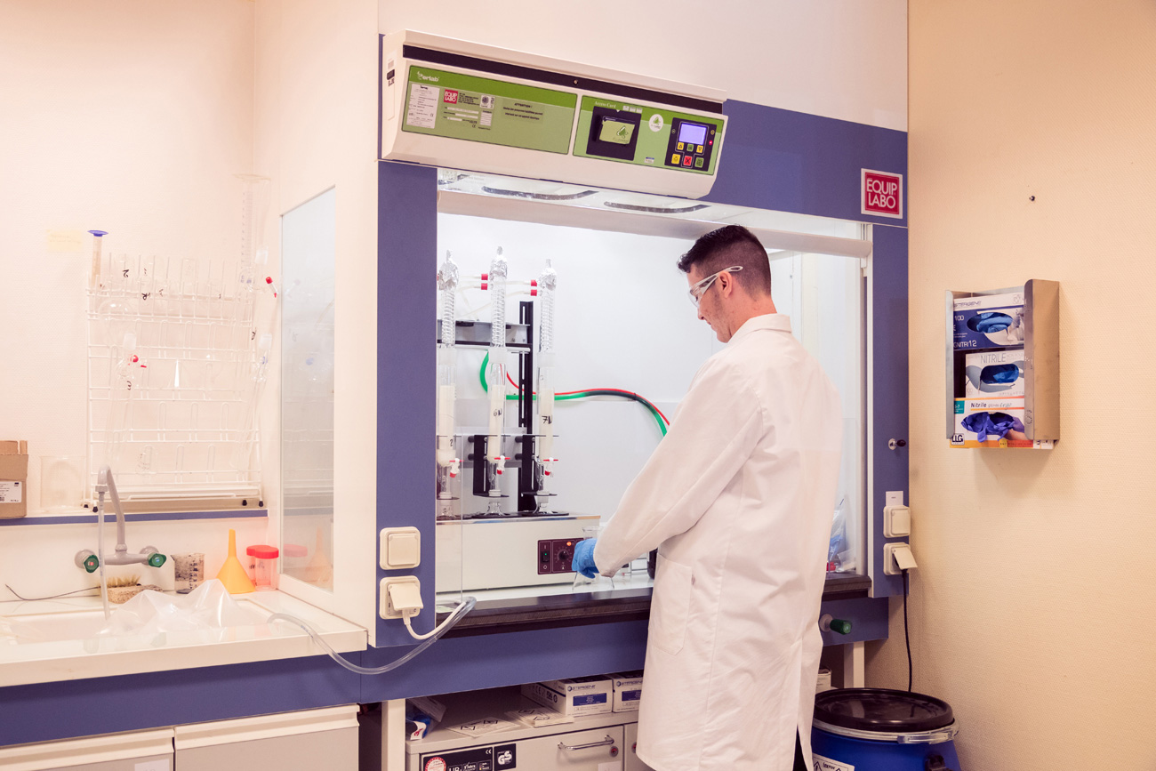 MDB Texinov Laboratoire - Test taux de gras