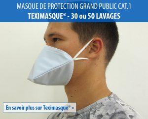 En savoir plus sur Teximasque masque de protection lavable grand public catégorie 1