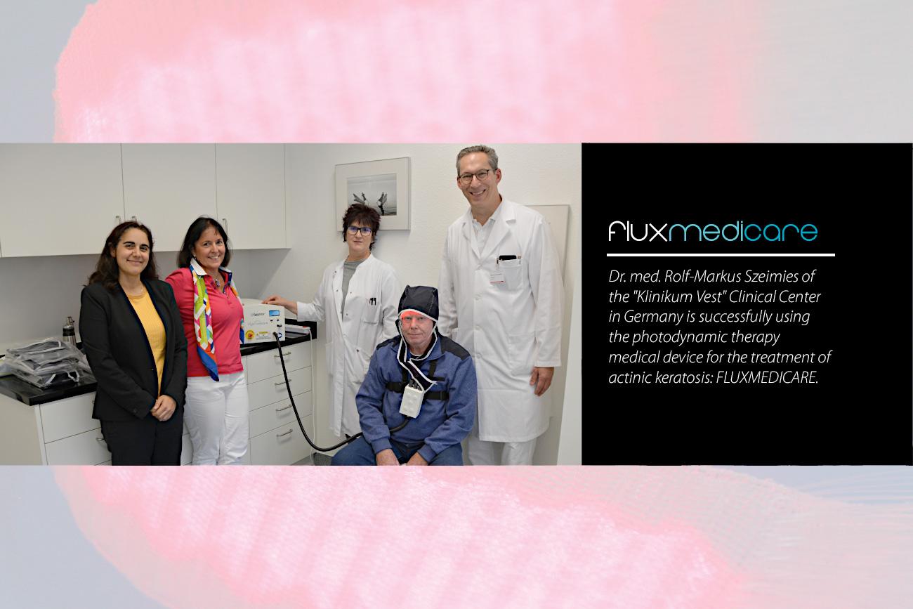 Fluxmedicare at Klinikum Vest : Photodynamic therapy PDT actinic keratosis