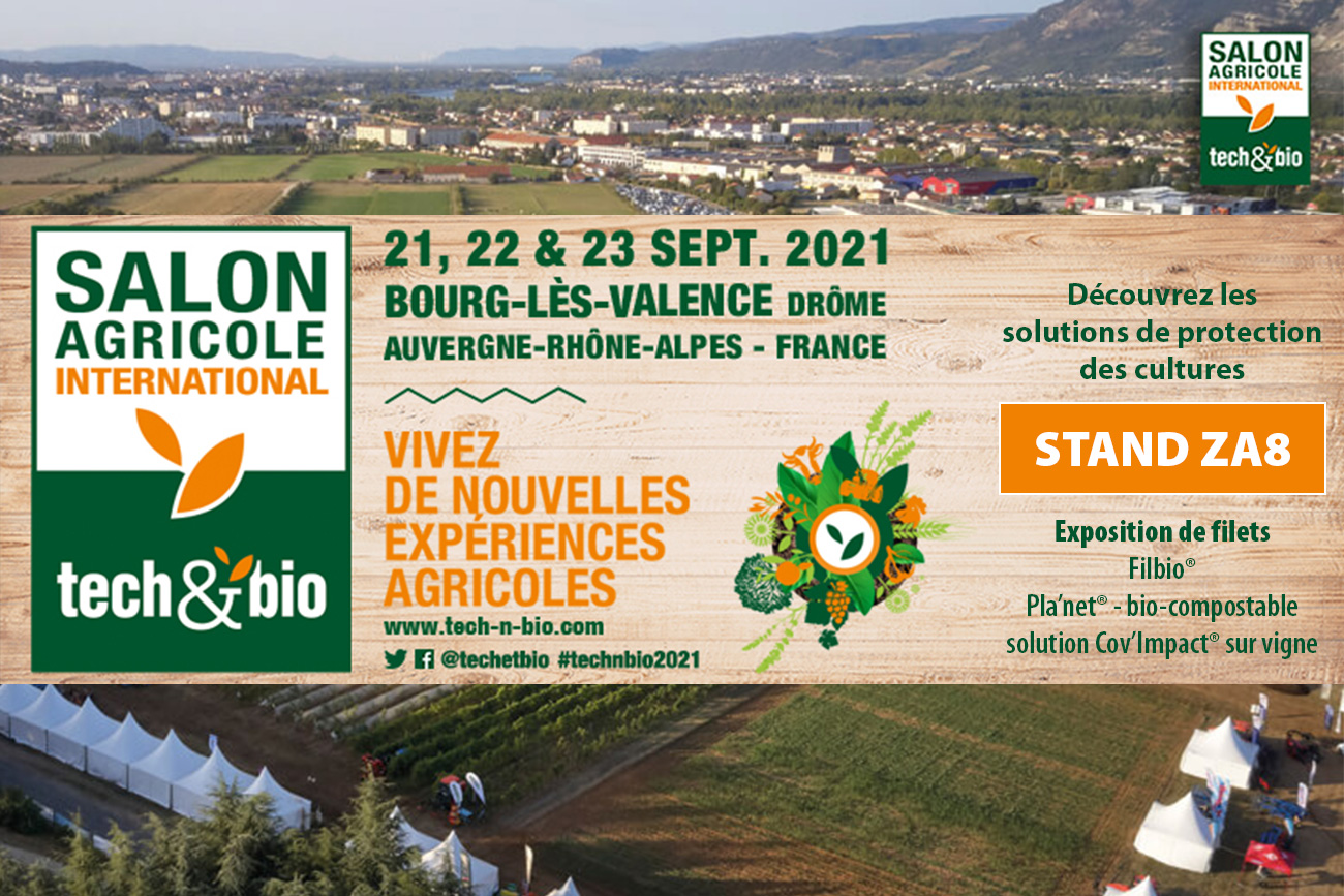 Salon Tech & Bio du 21 au 23 Septembre - Texinov Stand ZA8